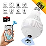 SARCCH Light Bulb Camera,Dome Surveillance Camera 1080P...
