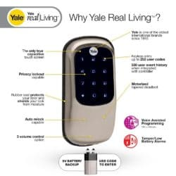 All of the features of the Yale YRD 240