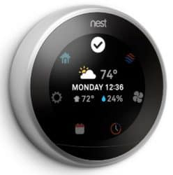 The Nest 3rd Generation Displays a Weather Forecast