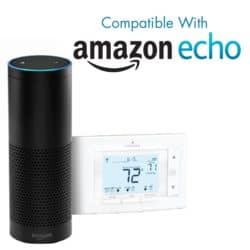 The Sensi is compatible with Amazon Echo
