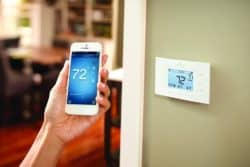 The Sensi App Controls The Thermostat