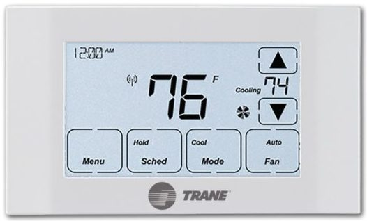The Trane XR524 has a large display