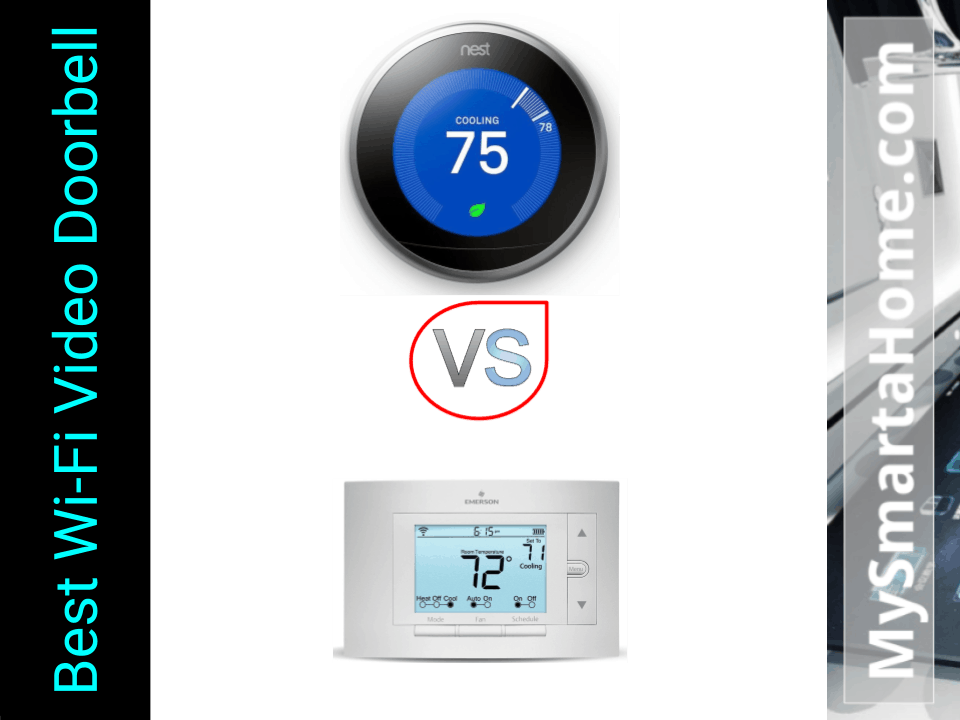 Smart Thermostat Video Review- Nest vs Sensi UP500W