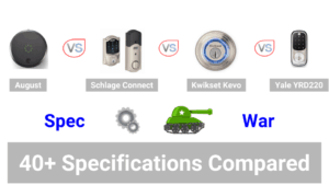 August vs Schlage vs Kwikset Kevo vs Yale YRD220