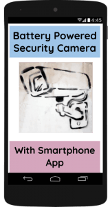 Battery Powered Security Camera With Smartphone App